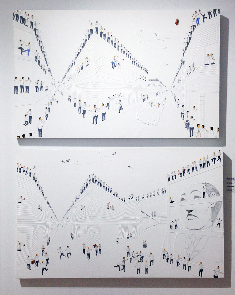 We run to the Pattern by Jihyun Jung at Scope Gallery at Miami Beach Art BAsel 2014, MBAB