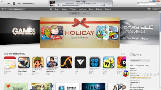 iTunes 11, iTunes Store, Apps