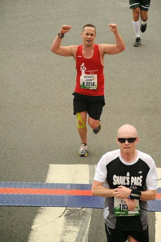 L.A. Marathon 2013 Finish Line