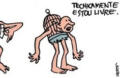 Laerte Coutinho, Piratas Do Tietê: Technicamente estou livre / Technically I am free.