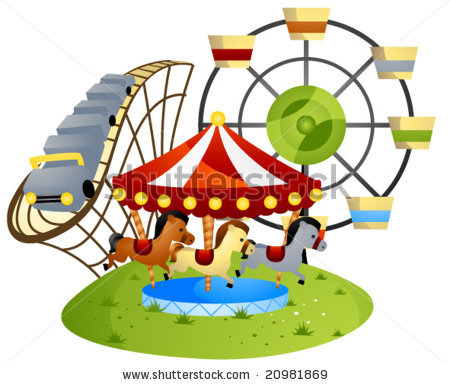 Amusement Park Clipart Gallery Offers 3 Illustrations Of Scenes And Rides That Would Be Typically Seen At A Fair Carnival Or