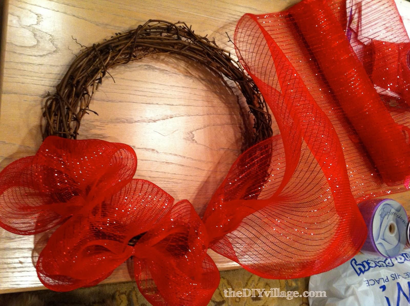 Valentine wreath tutorial the diy village valentine wreath tutorial baditri Images