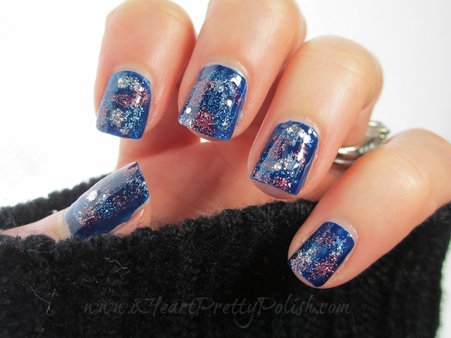 Galaxy Nails Zoya PixieDust Cult Nails Time Traveler OPI crown Me Already