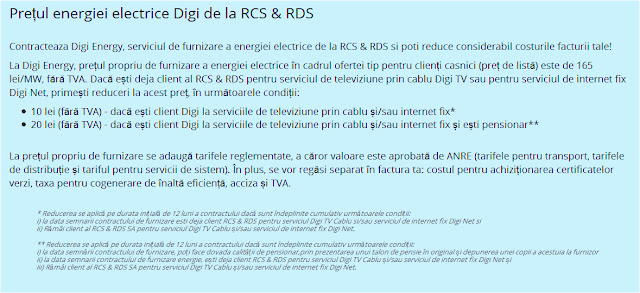Energie electrica Digi de la RCS&RDS