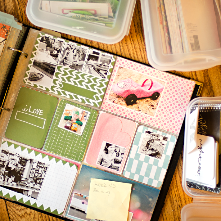 The Busy Mom Syndrome: not enough time to keep up with the weekly Project Life® pocket scrapbooking and why I'm ok with not being caught up