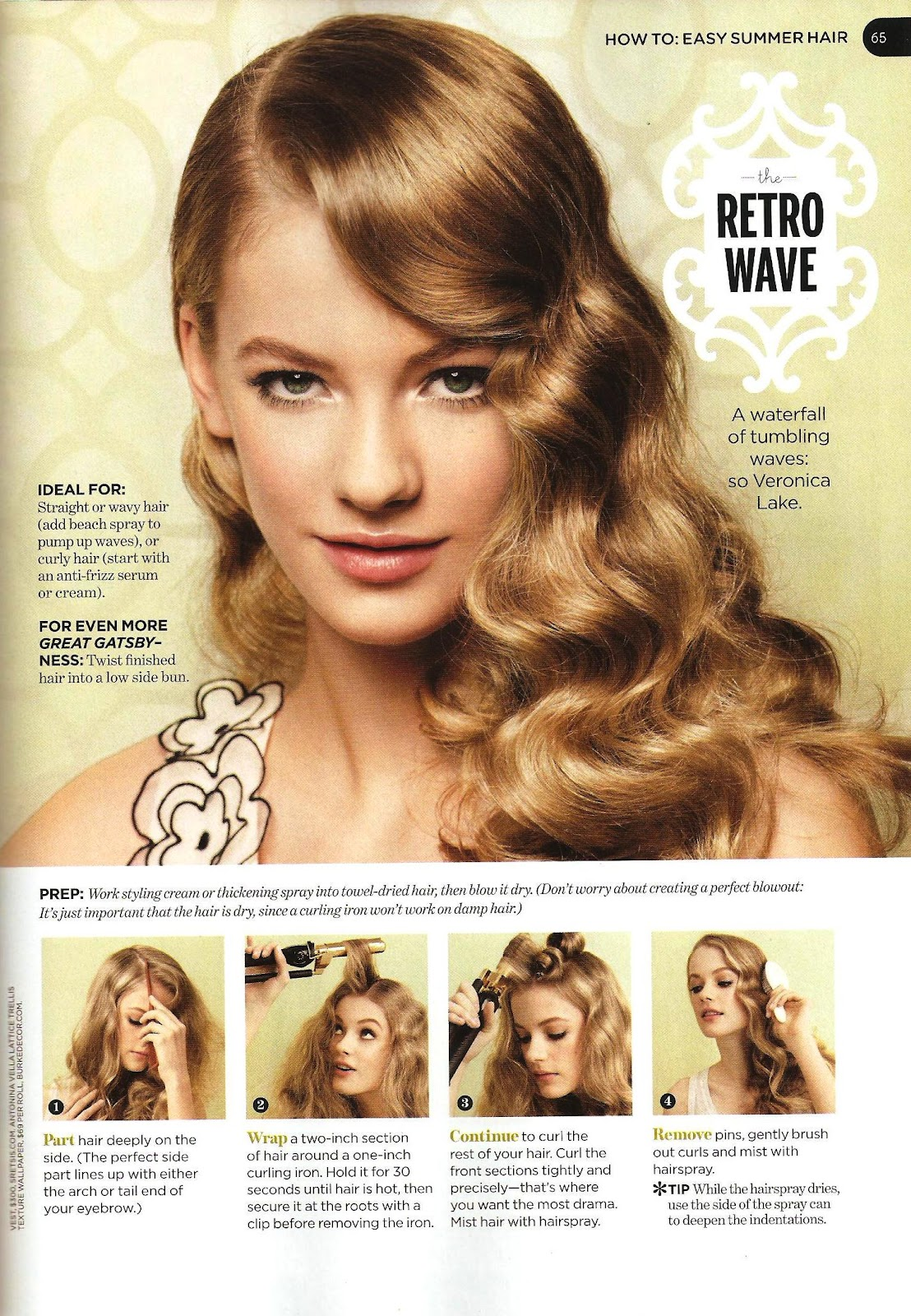 Easy Vintage Hairstyles For Curly Hair : What mimi writes how to easy summer hair