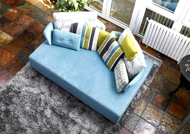 Chic and colorful chaise sofas for Blue and white striped chaise lounge cushions