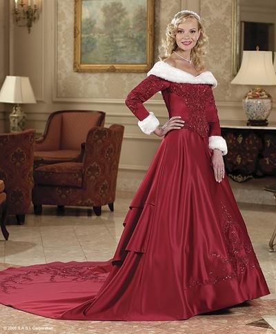 Whiteazalea elegant dresses elegant red winter wedding for Red winter wedding dresses