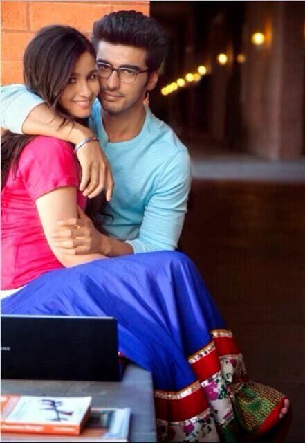 Arjun Kapoor and Alia Bhatt close in love in 2 States movie still
