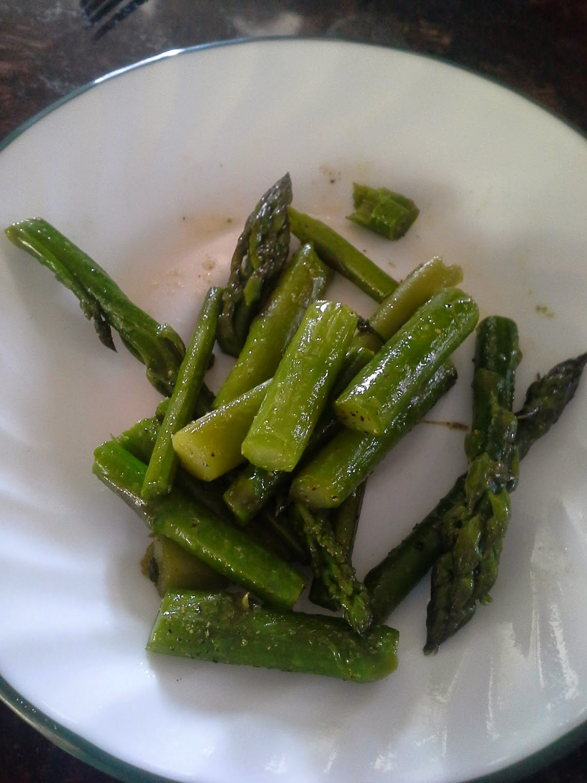 First asparagus of the season sauteed with butter