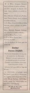 Décès Desanti Etienne