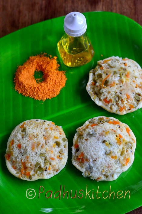 Vegetable Idli Recipe Kids Breakfast