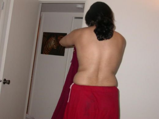 red red saree aunty nude desi bra