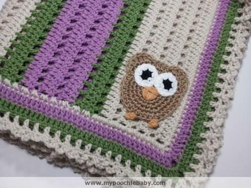 Raising Mimi Poochiebaby Crochet Owl Receiving Blanket Pattern
