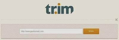 tr.im URL Shortener Website