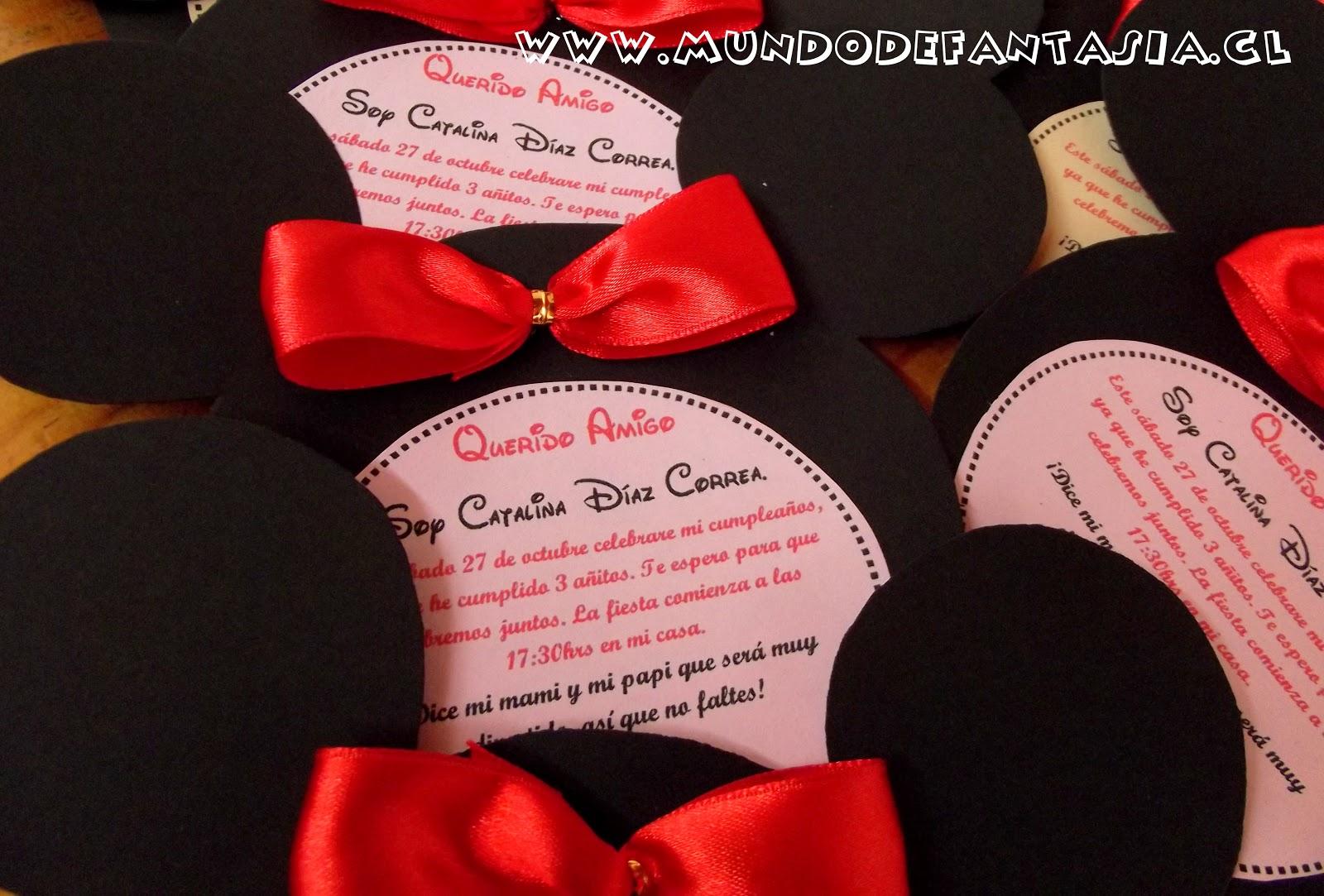 Invitaciones De Minnie Mouse