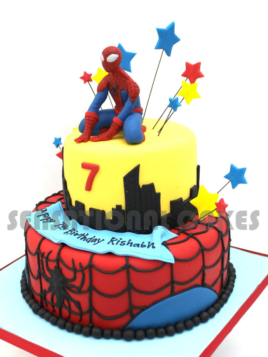 The Sensational Cakes Spider M Theme 3d Cake Singapore Avengers