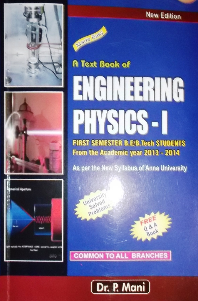 DOWNLOAD Anna University Regulation 2013 PH6151 Engineering Physics 1 ebook