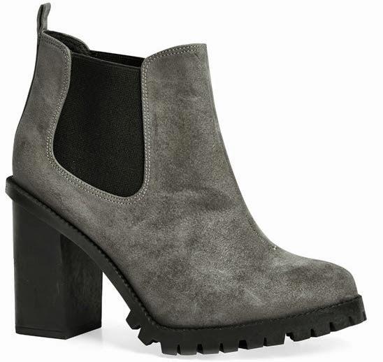 Primark zapatos: botines en color gris con tacón