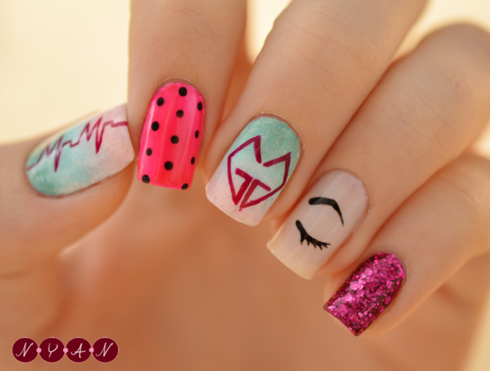 Nya nails march 2014 i honestly love everything about these nails prinsesfo Image collections