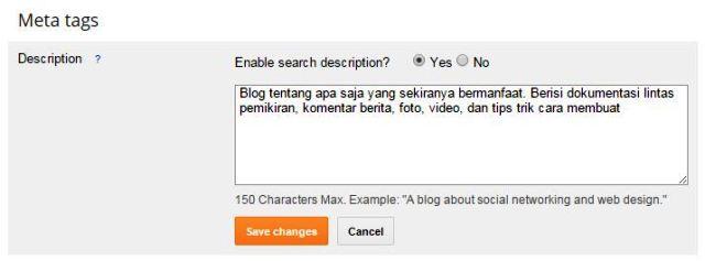 meta tags seo standar google