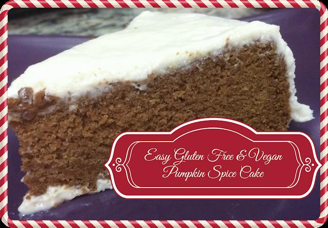 easy gluten free dairy free vegan pumpkin spice cake