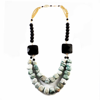 elisha francis, elisha francis london, statement necklace, turquoise necklace, women's jewelry, black necklace, handmade necklace