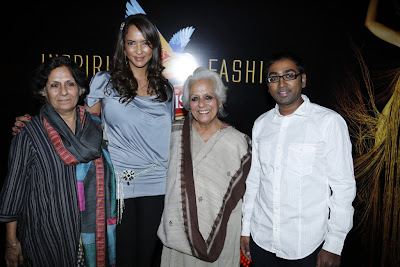Lakshmi prasanna at hyderabad international fashion week