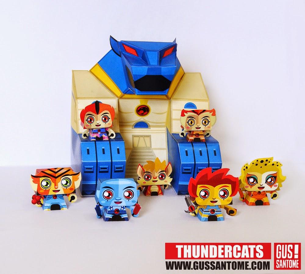 Mini ThunderCats Paper Toys