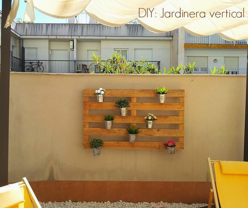 diy jardinera vertical con un palet