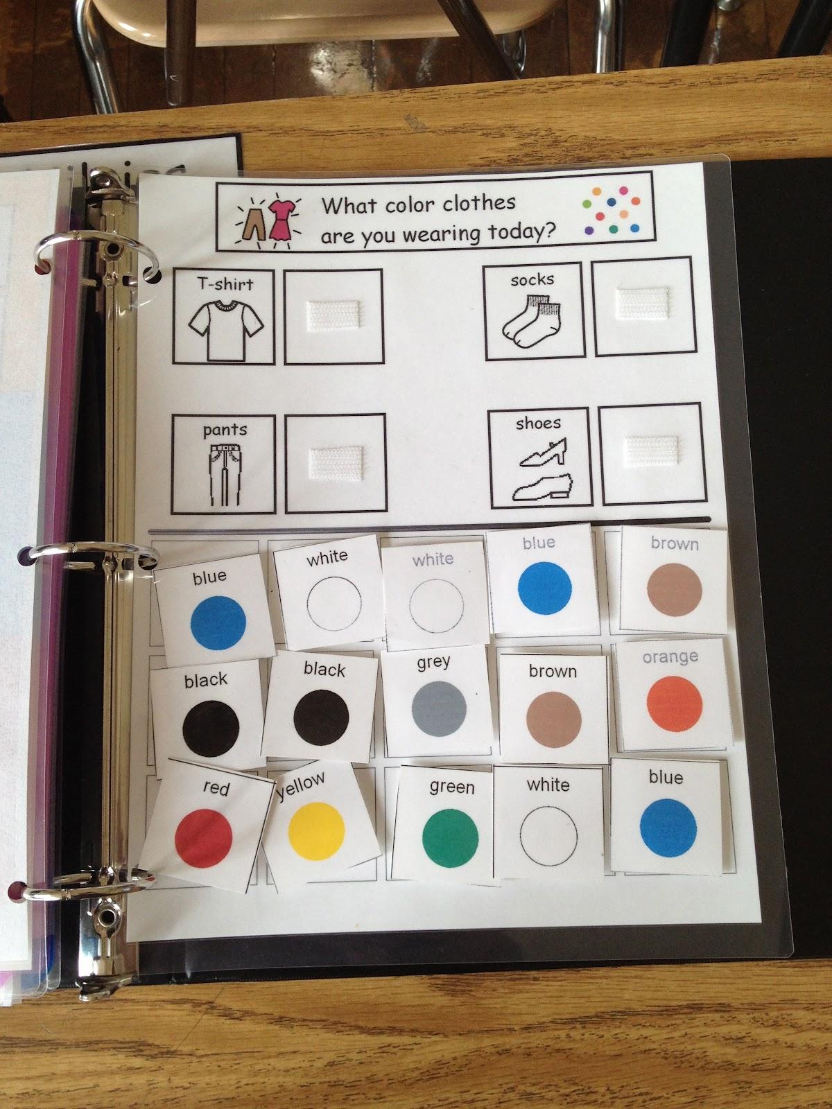 Autism Tank Morning Work Binders