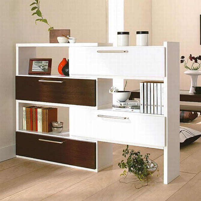 modern shelving house interior