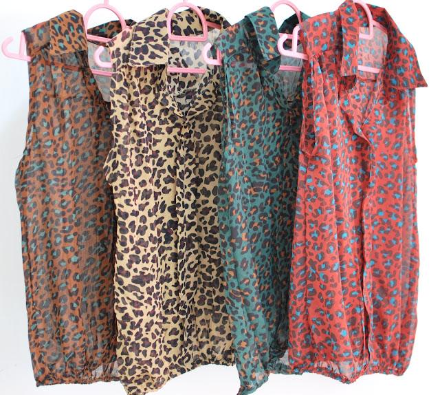 leopard sleeveless