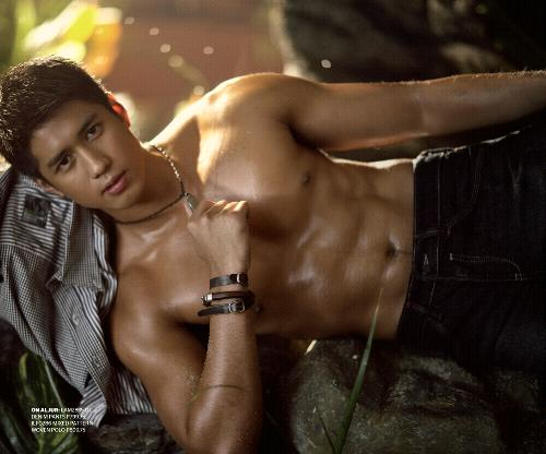 aljur+abrenica+bench++model+actor+hunk+m