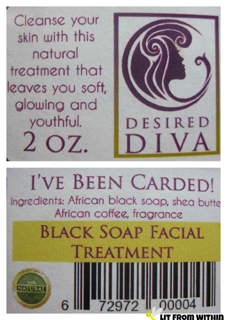Desired Diva African Black Soap Treatment ingredients