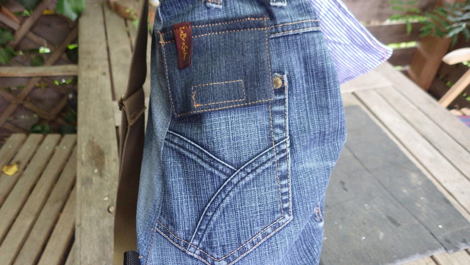 tinistaschen rucksack aus alten jeans. Black Bedroom Furniture Sets. Home Design Ideas