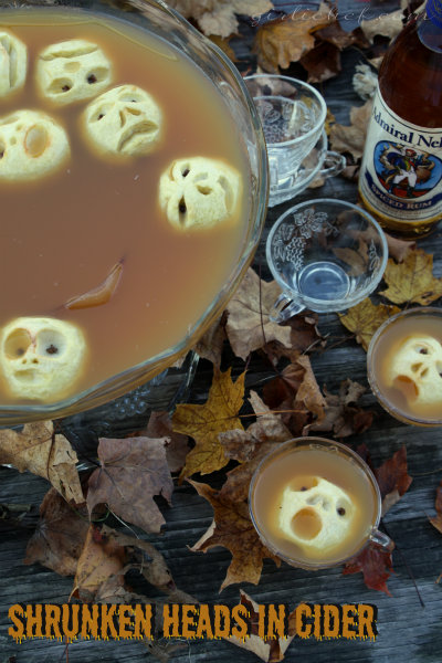 Shrunken Heads in Cider | www.girlichef.com
