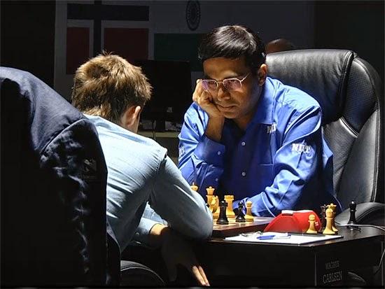 Partie 3 : Anand 1-0 Carlsen au championnat du monde d'échecs 2014 © Chess & Strategy