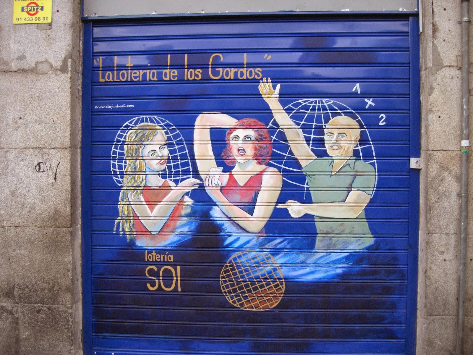 Pintura mural en puesto de lotería