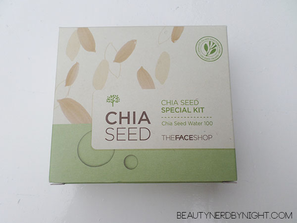 Bag of Love July 2013: THEFACESHOP Chia Seed Skincare Kit
