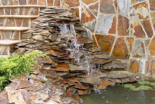 Arte y jardiner a estanques y jardines acu ticos - Cascada de jardin ...