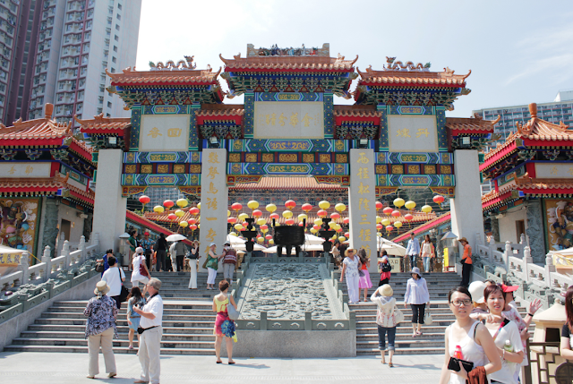 A beautiful view of Wong Tai Sin Temple
