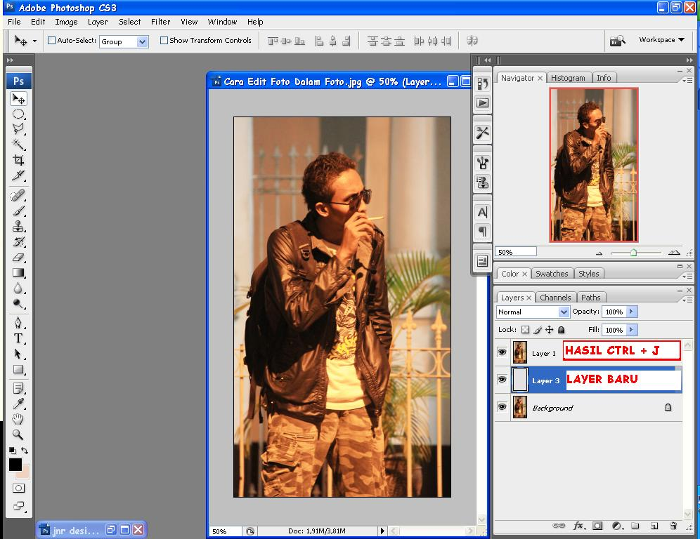 Foto Tutorial Cara Edit Foto Dalam Foto - Copy Layer