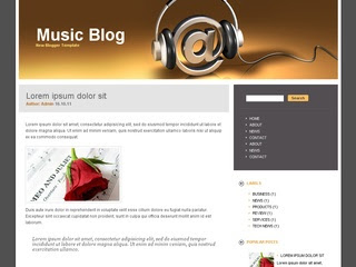Music Blog Blogger Template