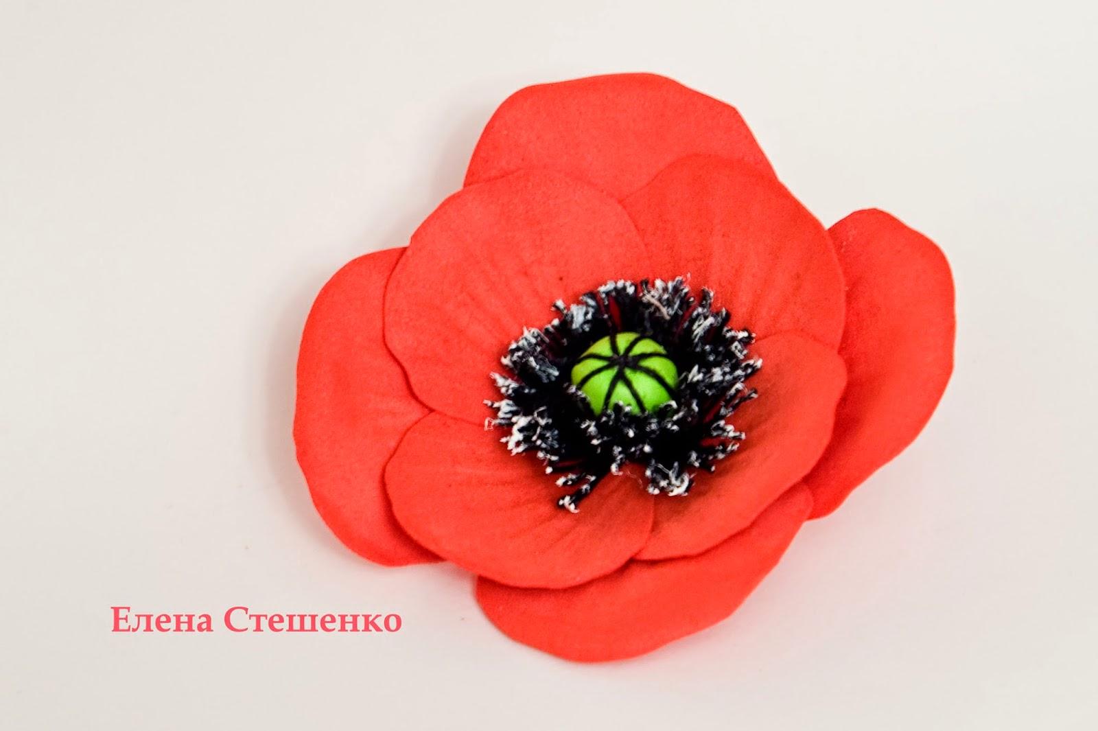 Цветы из фоамирана мастер класс с пошаговым фото маки