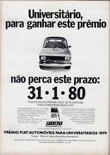 propaganda Fiat - 1979. Reclame Fiat anos 70