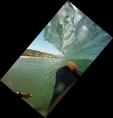 La Jolla Shores - Go Pro HD Surf Hero - Barrel Shot Attempt - The Wall