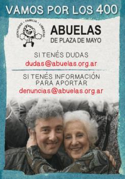 POR EL DERECHO A LA IDENTIDAD: ACERCATE A ABUELAS