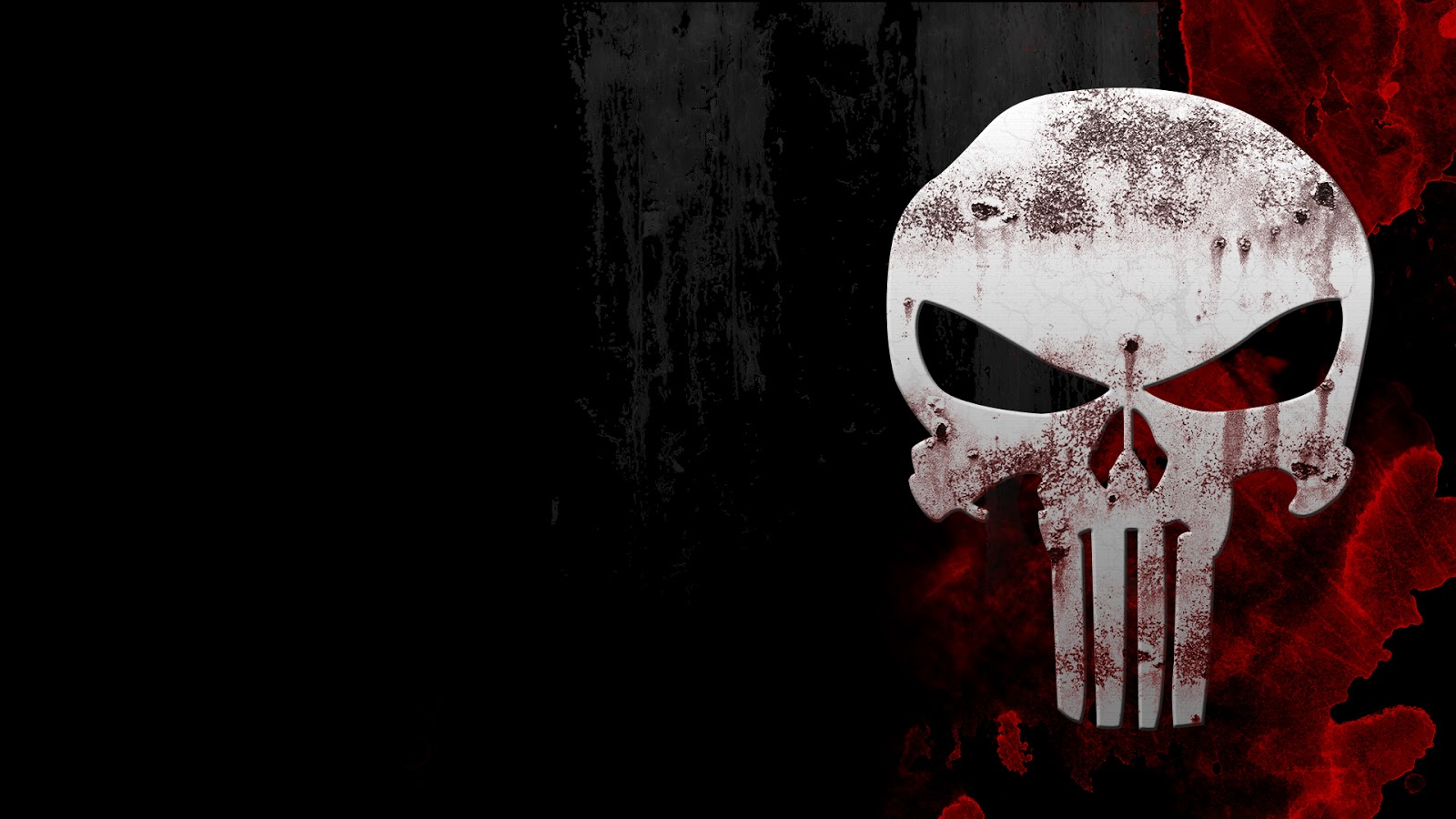 Punisher Comic Marvel Heroes Superhero Skull Logo Black Background HD Wallpaper Desktop PC A182