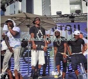 Davido, 50 Cents, Nicki Minaj rock Sin City in Mayweather Fight